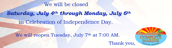 Closed July 4th 2020